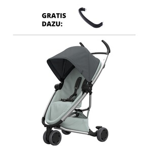 QUINNY ZAPP FLEX Buggy mit Liegefunktion Design 2018 incl. Spielbügel  graphite on grey