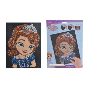 SIMBA SOFIA THE FIRST Disney Sequin Fun Paillettenbild Sofia