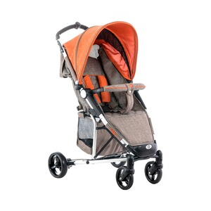 MOON  Kiss Buggy mit Liegefunktion  brown-orange/melange