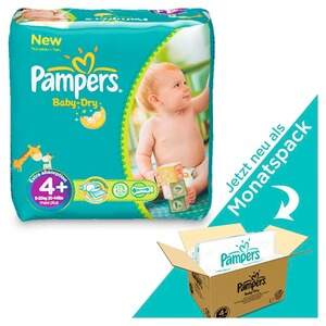 PAMPERS  Baby Dry Windeln Gr. 4+ 9-18 kg Monatsbox 152 St.