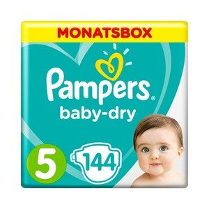 PAMPERS  Baby Dry Windeln Gr. 5 11-16 kg Monatsbox 144 St.