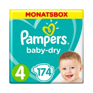 PAMPERS  Baby Dry Windeln Gr. 4 9-14 kg Monatsbox 174 St.