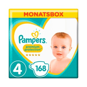 PAMPERS  Premium Protection Windeln Gr. 4 9-14 kg Monatsbox 168 St.