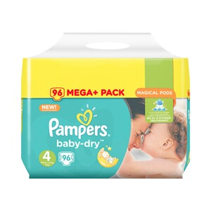 PAMPERS  Baby Dry Windeln Gr. 4 8-16 kg Mega Plus Pack 96 St.