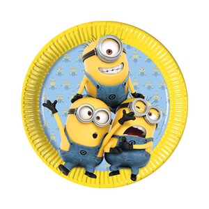 MINIONS 8er-Pack Pappteller Minions