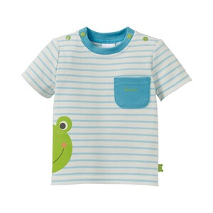 BORNINO CONFETTI ANIMALS T-shirt rayé « grenouille »
