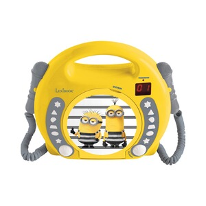 LEXIBOOK MINIONS CD Player mit 2 Mikrofonen