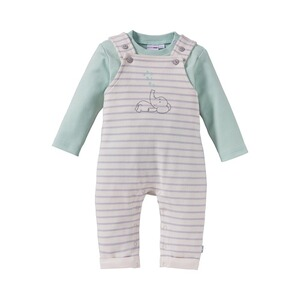 BORNINO MOUSE & ELEPHANT 2-tlg. Set Latzhose mit Shirt Elefant
