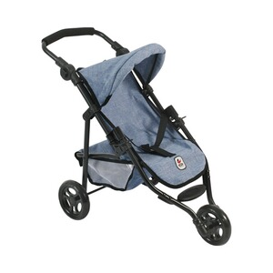 Bayer Chic  Puppen-Jogging-Buggy Lola  jeans/blau