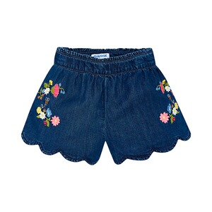 MAYORAL  Jeans-Shorts Blumenstickerei
