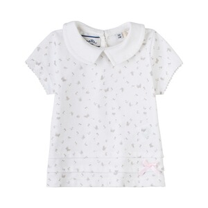 SANETTA FIFTYSEVEN T-shirt papillons à col Claudine