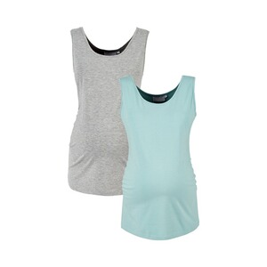 2HEARTS MERMAID IN LOVE 2er-Pack Umstands-Tops  grau/aqua