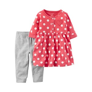 CARTER´S  2-tlg. Set Kleid langarm und Leggings Punkte