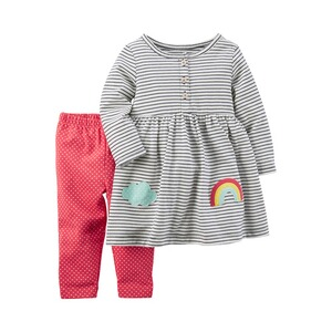 CARTER´S  2-tlg. Set Kleid langarm und Leggings Ringel
