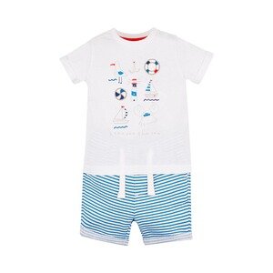 MOTHERCARE  2-tlg. Set T-Shirt und Shorts Maritim