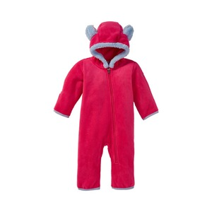 COLUMBIA  Fleece-Overall Tiny Bear  pink