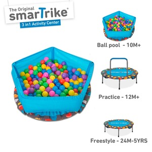smarTrike  Trampolin 3 in 1 Activity Center 90 cm