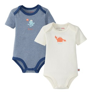 Bornino SEASIDE 2er-Pack Bodys kurzarm