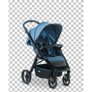 MOON  Jet R Buggy mit Liegefunktion  blue/nylon stripe