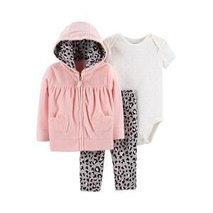 CARTER´S  3-tlg. Set Jacke, Body kurzarm und Leggings Leo