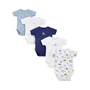 Mothercare  5er-Pack Bodys kurzarm Autos