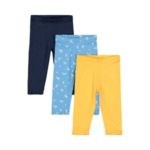 Mothercare  3er-Pack Leggings Punkte Blumen