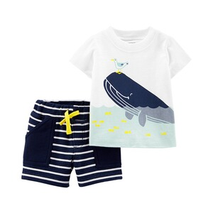 CARTER´S  2-tlg. Set T-Shirt und Shorts Wal