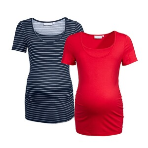 2hearts WE LOVE BASICS 2er-Pack Umstands- und Still-T-Shirt