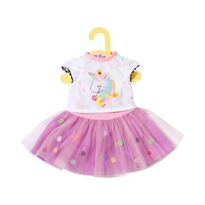 Zapf Creation Dolly Moda Puppen Outfit Einhorn Shirt mit Tutu 43cm