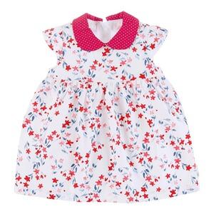 Kleid Babykleid Baby Kleidchen 62 68 Taufe Rosa Silber Blumen
