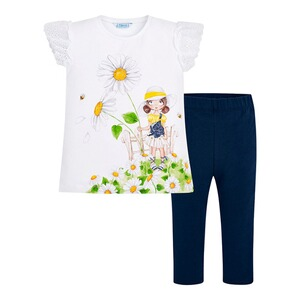 Mayoral  2-tlg. Set T-Shirt und Leggings Garten