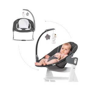 Hauck  Babywippe Alpha Bouncer 2in1 Deluxe  melange grey