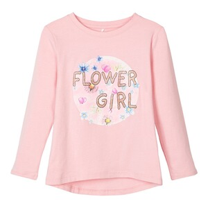 NAME IT  Shirt langarm Flower Girl