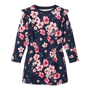 NAME IT  Sweatkleid langarm Blumen
