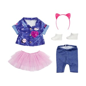 Zapf Creation BABY BORN Puppen Outfit Deluxe Jeans Kleid Set 43cm