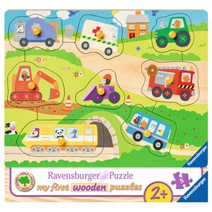 RAVENSBURGER  my first wooden puzzles 8 Teile, Lieblingsfahrzeuge
