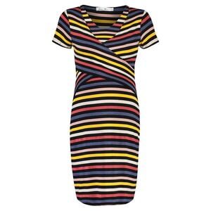 Queen Mum  Still-Kleid nursing stripe  Multicolor Stripe