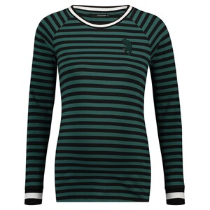 Supermom  Langarmshirt Green Stripe  June Bug Stripe
