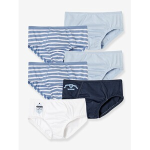 VERTBAUDET  HAPPY PRICE 7er-Pack Jungen-Slips  pack blau