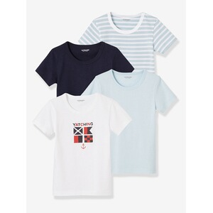 3d6240b353f2ad Vertbaudet HAPPY PRICE 4er-Pack Jungen T-Shirts multicolor hellblau