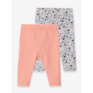 Vertbaudet  2er-Pack Leggings für Babys, Stretch  multicolor hochorange