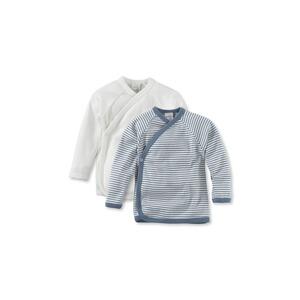 163e37c297 hessnatur Langarm Wickelhemd aus reiner Bio-Baumwolle 2er-Set rauchblau