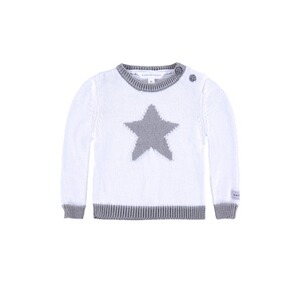BELLYBUTTON  Baby Pullover mit Stern  bright white