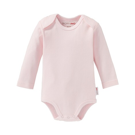 BorninoBASICS2er-Pack Bodys langarm  rosa 2