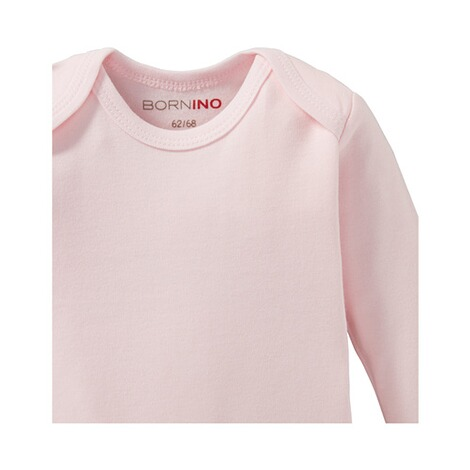 BorninoBASICS2er-Pack Bodys langarm  rosa 4