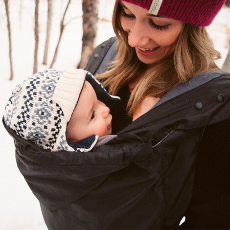 Ergobaby®Winter Cover 2in1  black/charcoal 2