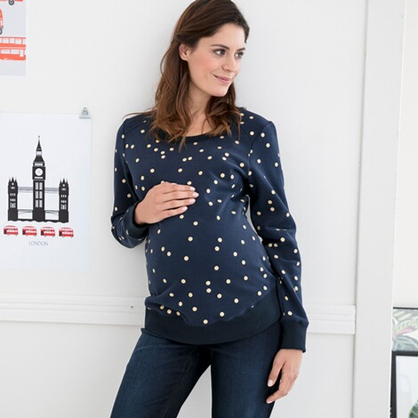 2heartsWE LOVE BASICSUmstands-Pullover Golden Dots 5