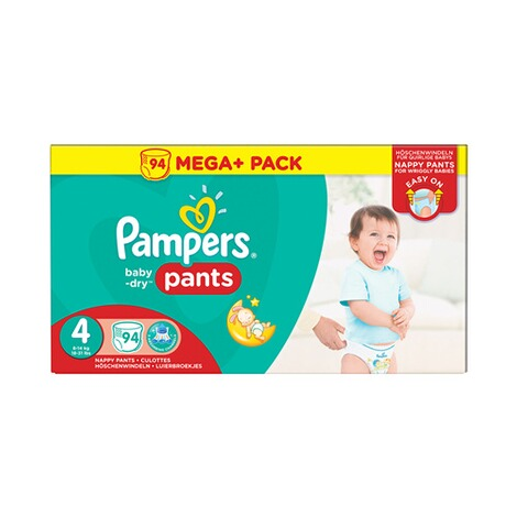 4 94St Windeln Pampers Baby-Dry PANTS Gr