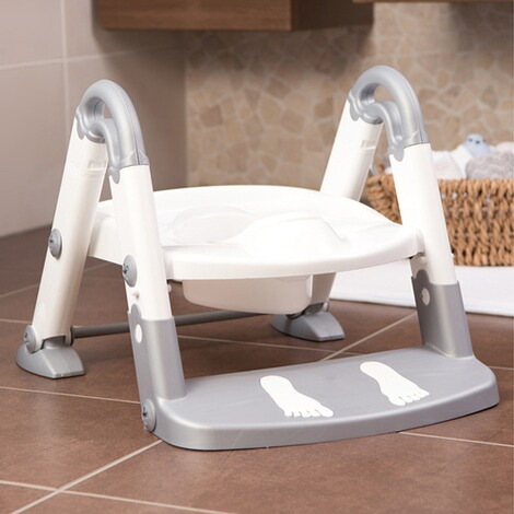 KidsKitToiletten-Trainer Kids Kit  3-in-1  silbergrau/weiß 4