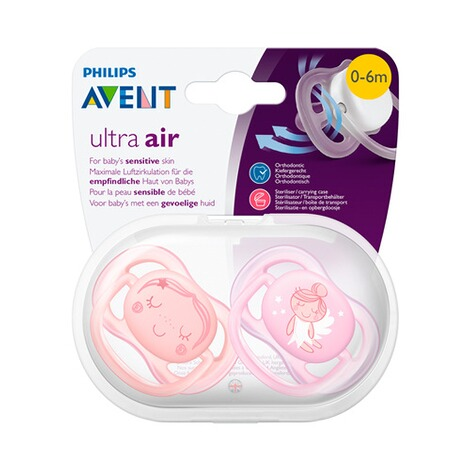 Philips Avent2er-Pack Schnuller, SCF345/20, Ultra-Air, 0-6M 5